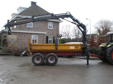 Recent afgeleverde projecten for Vrachtwagen kipper met kraan